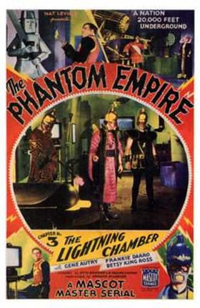 Framed Phantom Empire The Lightning Chamber Print