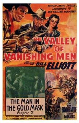 Framed Valley of the Vanishing Men Print