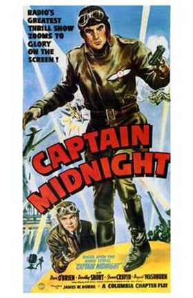 Framed Captain Midnight Print