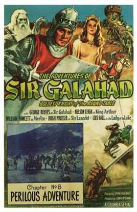 Framed Adventures of Sir Galahad Print