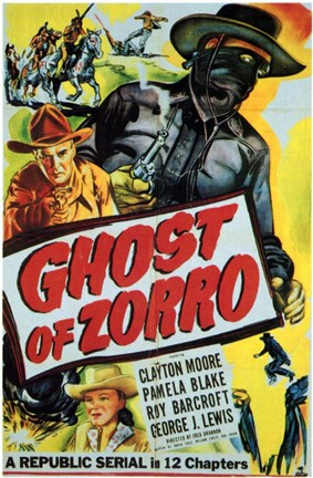 Framed Ghost of Zorro Print