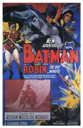 Framed Batman and Robin - Robin Meets the Wizard Print