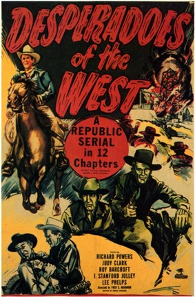 Framed Desperadoes of the West Print