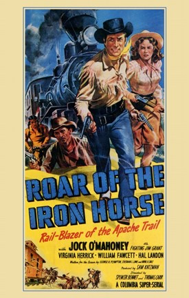 Framed Roar of the Iron Horse Print