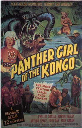 Framed Panther Girl of the Kongo Print
