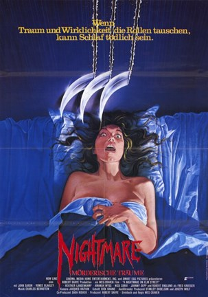 Framed Nightmare on Elm Street  a - woman Print