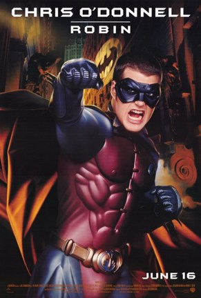 Framed Batman Forever Chris O'Donnell as Robin Print