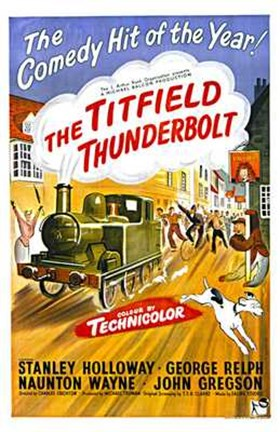 Framed Titfield Thunderbolt Print