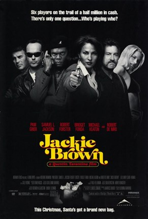 Framed Jackie Brown 6 Players Print