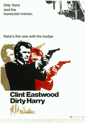 Framed Dirty Harry Pop Art Print