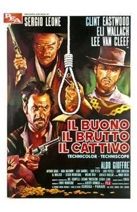Framed Good  the Bad and the Ugly Italian Print