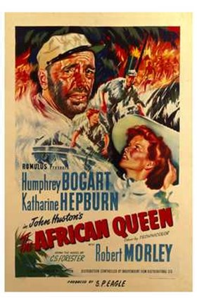 Framed African Queen Robert Morley Print