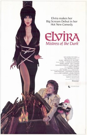 Framed Elvira  Mistress of the Dark Print