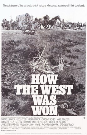 Framed How the West Was Won Film Print