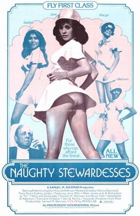 Framed Naughty Stewardesses Movie Print