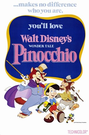 Framed Pinocchio Makes No Difference Who You Are Print