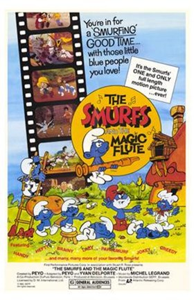 Framed Smurfs and the Magic Flute Print