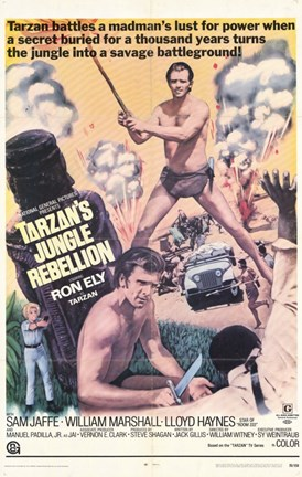 Framed Tarzan's Jungle Rebellion, c.1970 Print