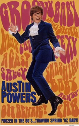 Framed Austin Powers: International Man of Myst - Groovy Baby Print