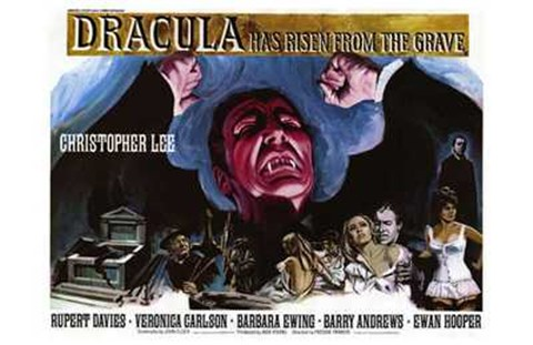 Framed Dracula Has Risen from the Grave Christopher Lee Print