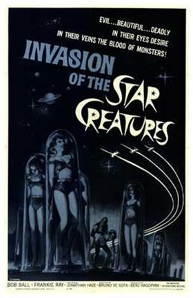 Framed Invasion of the Star Creatures Print