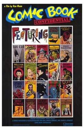 Framed Comic Book Confidential Print