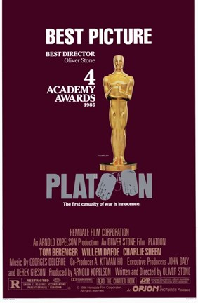 Framed Platoon 4 Academy Awards Print