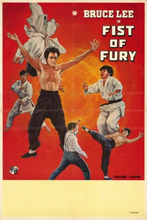 Framed Fists of Fury Movie Print