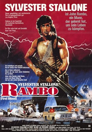 Framed Rambo: First Blood Sylvester Stallone Print