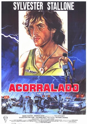 Framed Rambo: First Blood (spanish) Print