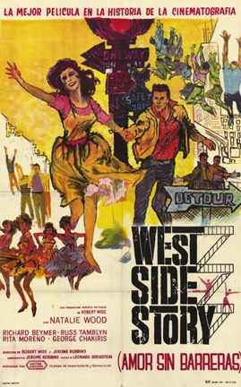 Framed West Side Story (french) Print
