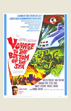 Framed Voyage to the Bottom of the Sea Print