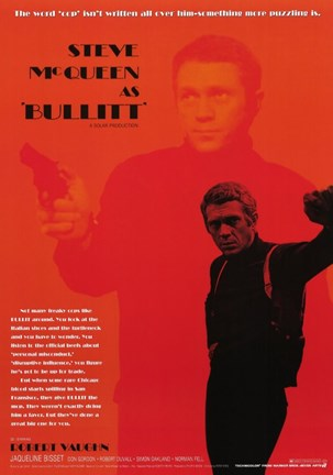 Framed Steve McQueen as Bullitt Print