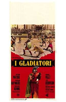 Framed Demetrius and the Gladiators Print