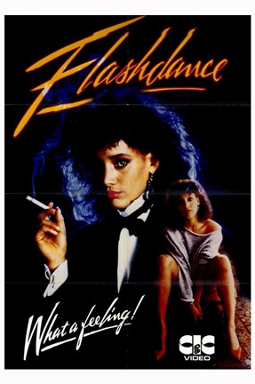 Framed Flashdance Jennifer Beals Print
