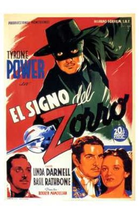 Framed Mark of Zorro Power (spanish) Print