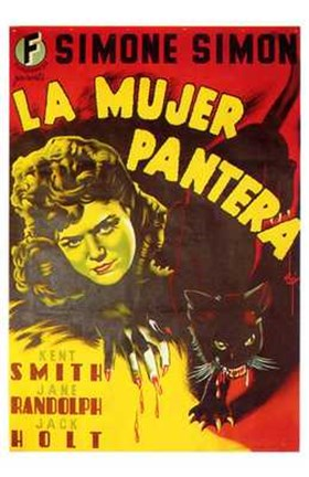 Framed Cat People Spanish Print
