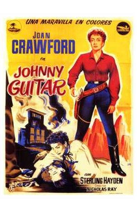 Framed Johnny Guitar Print