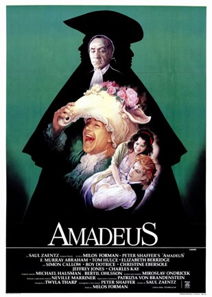 Framed Amadeus Green with Cast Print