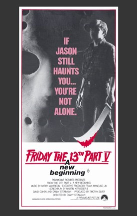 Framed Friday the 13Th Part 5 New Beginning Print