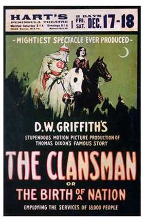Framed Birth of a Nation: The Clansman Print