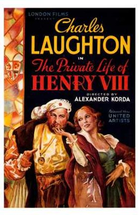 Framed Private Life of Henry VIII Charles Laughton Print