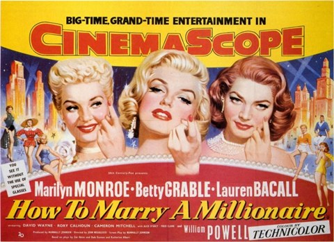 Framed How to Marry a Millionaire, c.1953 - style B Print