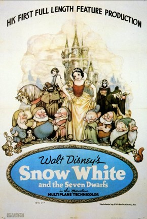 Framed Snow White and the Seven Dwarfs Print