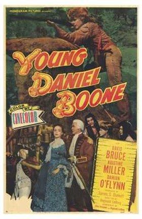Framed Young Daniel Boone Print