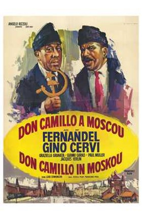 Framed Don Camillo in Moscow Print