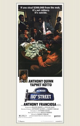 Framed Across 110Th Street Movie Print