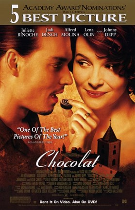Framed Chocolat - couple eating chocolate Print
