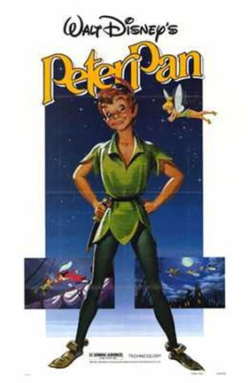 Framed Peter Pan Tinkerball Print