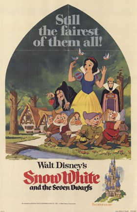 Framed Snow White and the Seven Dwarfs Still the fairest of them all! Print